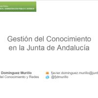 Mi presentación en #CNIS2019 sobre Gestión del Conocimiento en la Junta de Andalucía